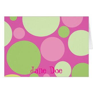 Cartão Personalizado - rosa com pontos