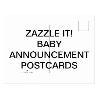 Cartão personalizados costume do anúncio do bebê