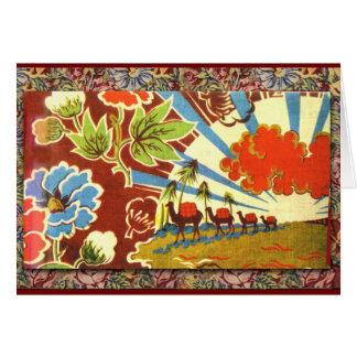 Cartão Personalize a caravana exótica e o nascer do sol