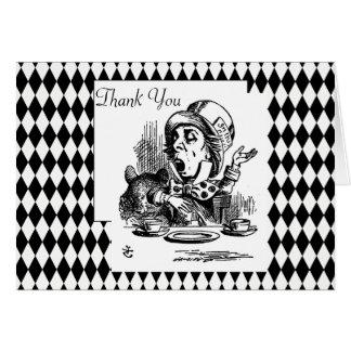 Cartão Personalize o obrigado você Hatter louco