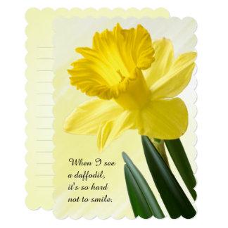 Cartão Personalize o PIC floral do Daffodil do amarelo da