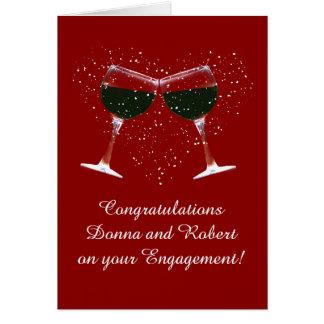 Cartão Personalize os parabéns do cobrir no noivado
