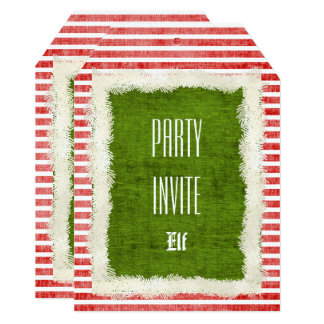 Cartão Personalize:  Tema vermelho/verde da festa de