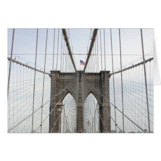 Cartão Perspectiva da ponte de Brooklyn