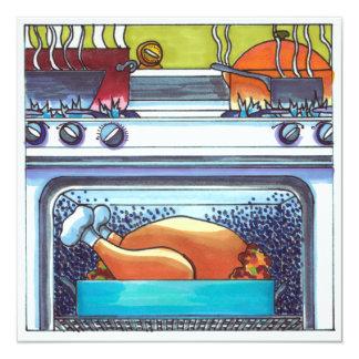 Cartão Peru da acção de graças no forno