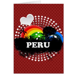 Cartão Peru frutado bonito