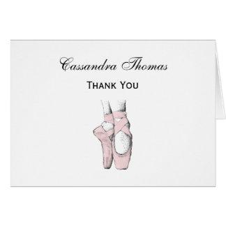 Cartão Pés da bailarina no Lt Cor-de-rosa de Pointe #1