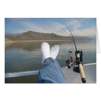 Cartão pés da pesca