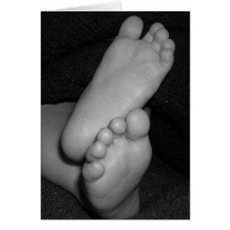 Cartão Pés do bebê