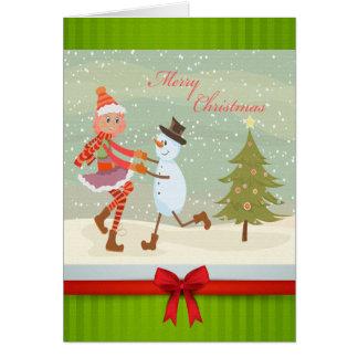 Cartão Pés do feriado