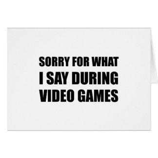 Cartão Pesaroso diga o video games