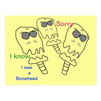 Cartão PESAROSO do Bonehead