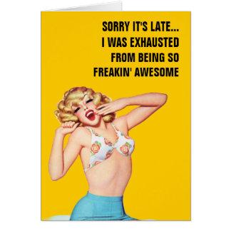 Cartão Pesaroso está atrasado… mim foi esgotado