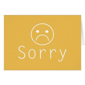 Cartão pesaroso minimalista da desculpa