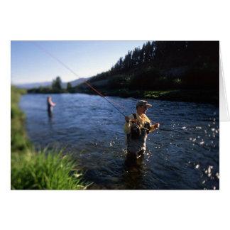 Cartão Pesca com mosca em Colorado