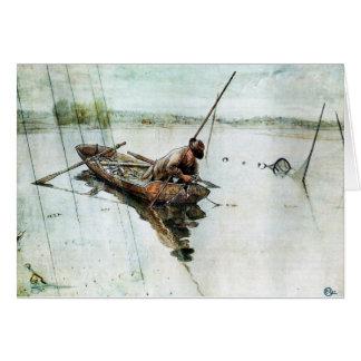 Cartão Pesca com redes 1905