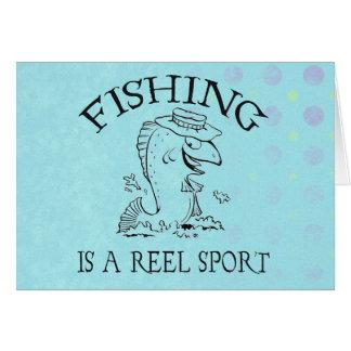 Cartão Pesca desportiva