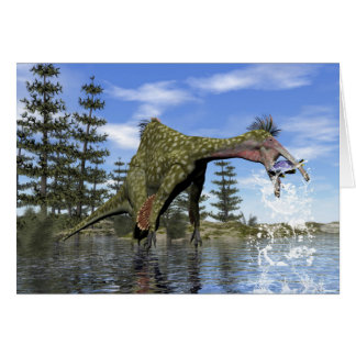Cartão Pesca do dinossauro do Deinocheirus - 3D rendem