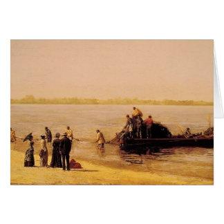 Cartão Pesca do sável de Thomas Eakins- em Gloucester
