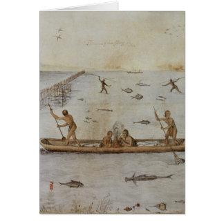 Cartão Pesca dos indianos