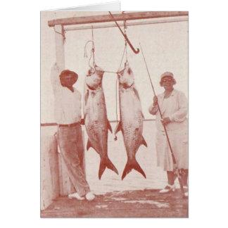Cartão Pescadores com tarpões, ilha de Marco, Florida, os