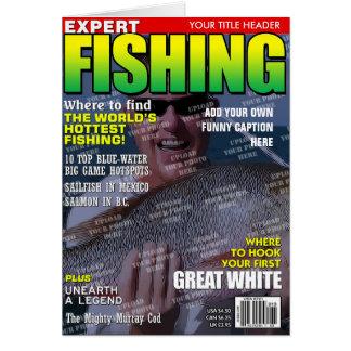 Cartão Pescando a capa de revista personalizada