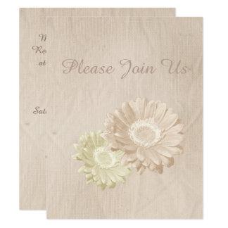 Cartão Pêssego antigo & flores Pastel que Wedding o