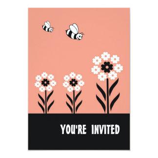 Cartão-Pêssego do convite de festas das flores
