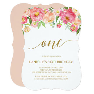 Cartão Pêssego e festa de aniversário das flores