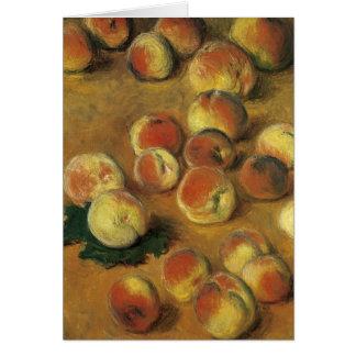 Cartão Pêssegos por Claude Monet