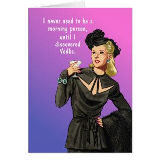 Cartão Pessoa da manhã