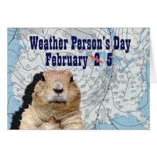 Cartão Pessoa do tempo dia o 5 de fevereiro nacional