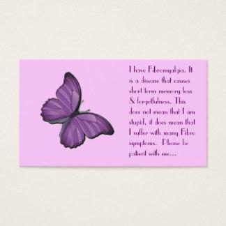 Cartão pessoal da fibromialgia