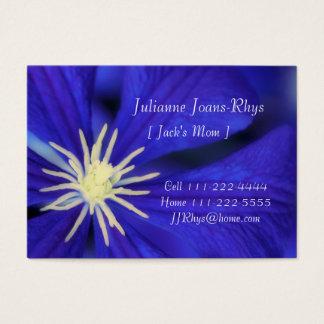 Cartão pessoal das mamães, modelo & Clematis azul