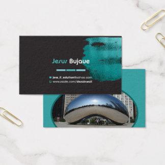 Cartão pessoal elegante para seus amigos (Chicago)