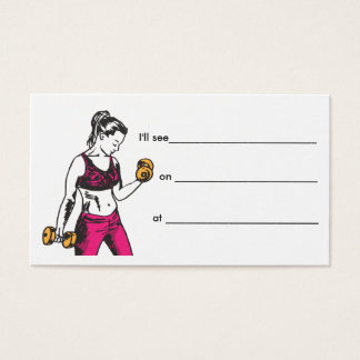 Cartão pessoal fêmea da nomeação do instrutor
