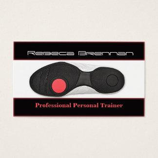 Cartão pessoal profissional do instrutor/malhação