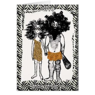 Cartão Pessoas da caverna no amor