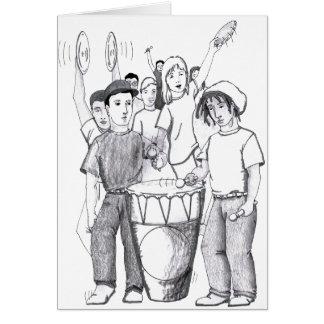 Cartão Pessoas da dança do cilindro dos ritmos