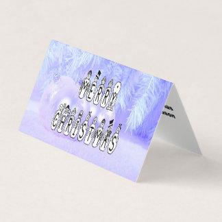 Cartão Pessoas da pia batismal da neve do Feliz Natal,