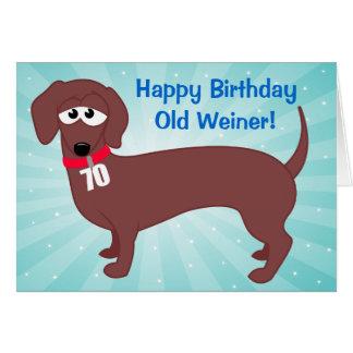 Cartão Pessoas de 70 anos Weiner