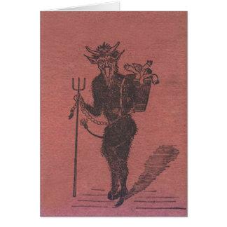 Cartão Pessoas do rapto de Krampus