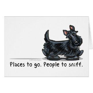 Cartão Pessoas do Scottie a sniff