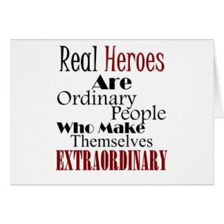 Cartão Pessoas extraordinárias dos heróis reais