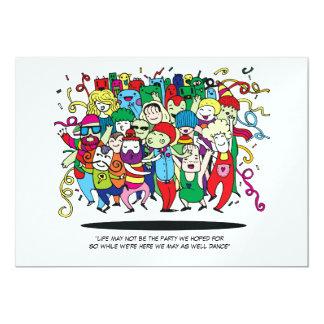 Cartão Pessoas ilustradas da dança