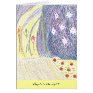 Cartão Pessoas na luz