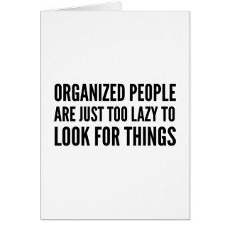 Cartão Pessoas organizadas