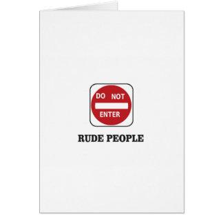 Cartão pessoas rudes do dne