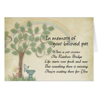 Cartão Pet a espera na perda do animal de estimação da
