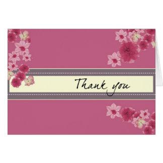 Cartão Pétalas cor-de-rosa bonito